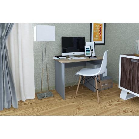 thumb Компьютерный стол Mini Maris Серый Униколор/Дуб Золотой правый 2