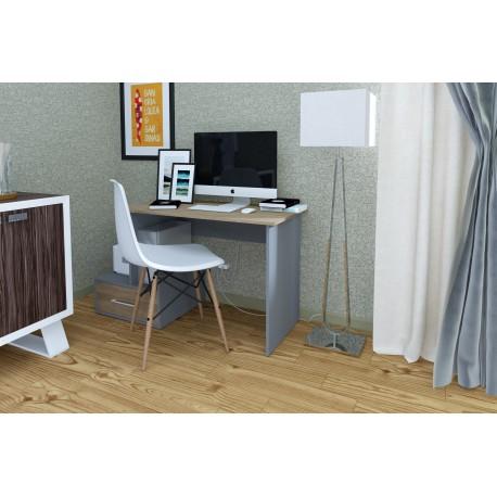 thumb Компьютерный стол Mini Maris Серый Униколор/Дуб Золотой левый 3