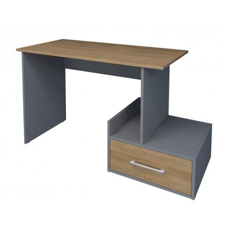 thumb Компьютерный стол Mini Maris Серый Униколор/Дуб Золотой правый 3