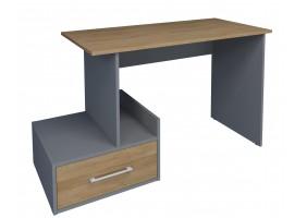 Компьютерный стол Mini Maris Серый Униколор/Дуб Золотой левый