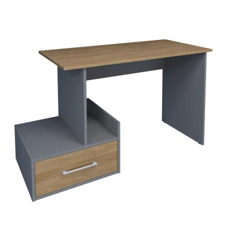 thumb Компьютерный стол Mini Maris Серый Униколор/Дуб Золотой левый 1