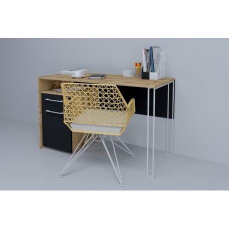 thumb Компьютерный стол Orion Black Дуб Тахо/Черный левый 2