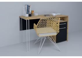 Компьютерный стол Orion Black Дуб Тахо/Черный правый