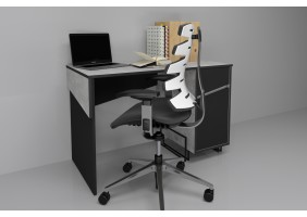 Компьютерный стол Tech Индастриал/Черный правый