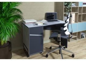 Компьютерный стол Tech Индастриал/Черный левый