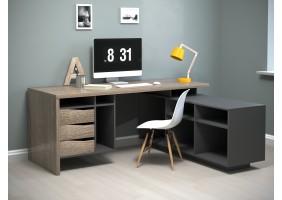 Компьютерный стол Connect 1 Дуб Сонома Трюфель/Антрацит правый