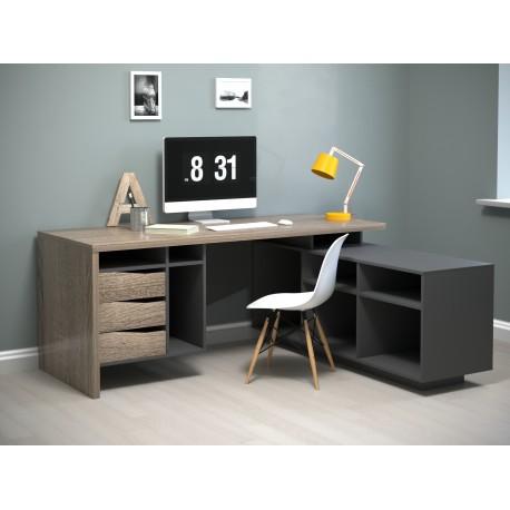 thumb Компьютерный стол Connect 1 Дуб Сонома Трюфель/Антрацит правый 1