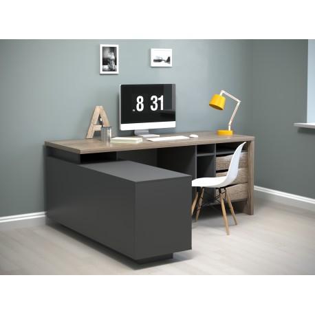 thumb Компьютерный стол Connect 1 Дуб Сонома Трюфель/Антрацит левый 5