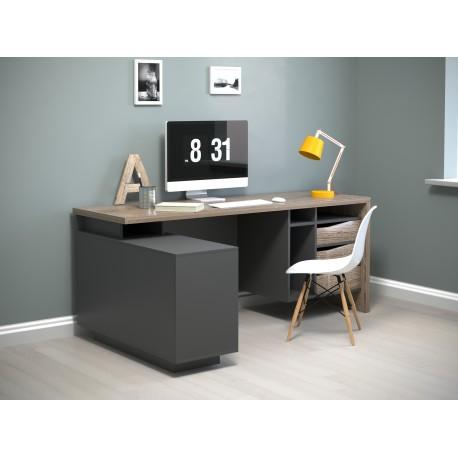 thumb Компьютерный стол Connect 2 Дуб Сонома Трюфель/Антрацит левый 5