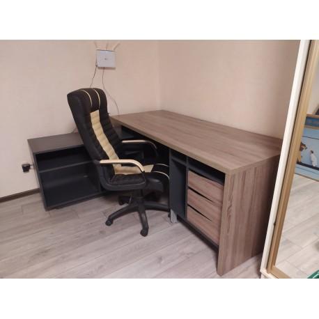 thumb Компьютерный стол Connect 2 Дуб Сонома Трюфель/Антрацит левый 11