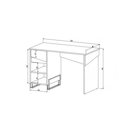 thumb Компьютерный стол Tech Индастриал/Черный левый 4