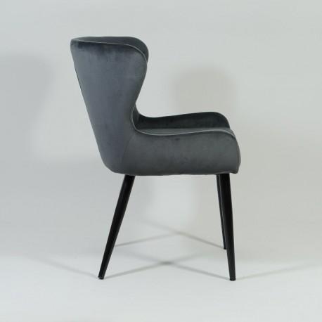 thumb Кресло Passo II Velvet Серый/Черный 4