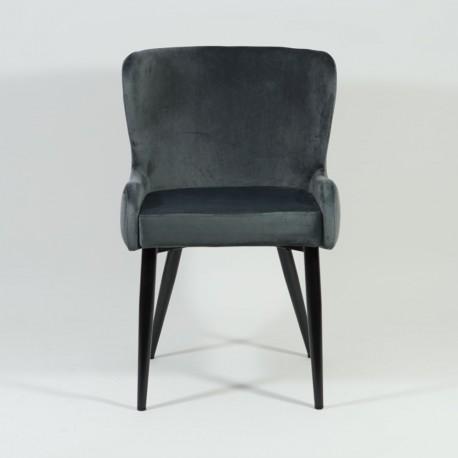 thumb Кресло Passo II Velvet Серый/Черный 2