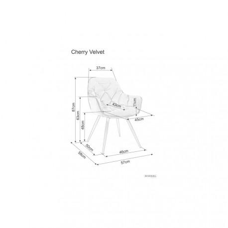 thumb Кресло Cherry Velvet Серый/Черный 5