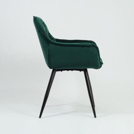 thumb Кресло Cherry Velvet Зеленый/Черный 4