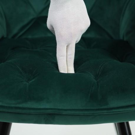 thumb Кресло Cherry Velvet Зеленый/Черный 3