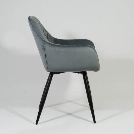 thumb Кресло Linea Velvet Серый/Черный 6