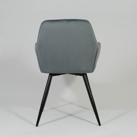 thumb Кресло Linea Velvet Серый/Черный 5