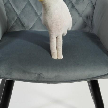 thumb Кресло Linea Velvet Серый/Черный 7