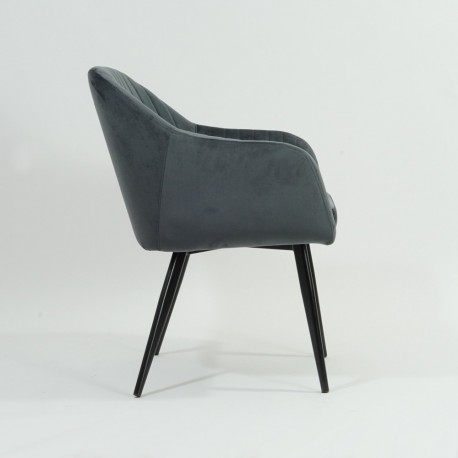 thumb Кресло Elina Velvet Серый/Черный 25