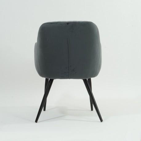 thumb Кресло Elina Velvet Серый/Черный 24