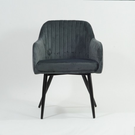 thumb Кресло Elina Velvet Серый/Черный 23