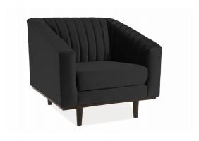 Кресло ASPREY 1 VELVET черный Черный / венге