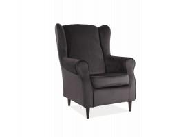 Кресло BARON VELVET черный Черный / венге