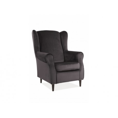 thumb Кресло BARON VELVET черный Черный / венге 1