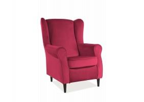 Кресло BARON VELVET бордо BLUVEL 59 / венге