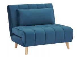 Кресло BILLY VELVET голубой TAP.188 / бук