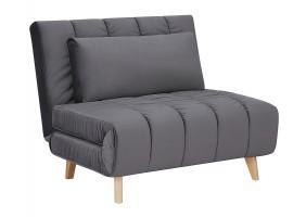 Кресло BILLY VELVET серый TAP.139 / бук