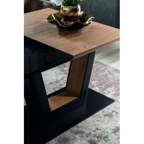 thumb Стол обеденный Sydney 160(220)x90 см Черный / Дуб (SYDNEYCD160) 9