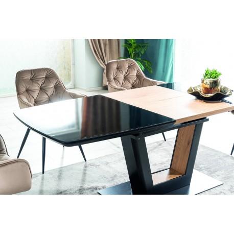 thumb Стол обеденный Sydney 160(220)x90 см Черный / Дуб (SYDNEYCD160) 8