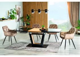 Стол обеденный Sydney 160(220)x90 см Черный / Дуб (SYDNEYCD160)
