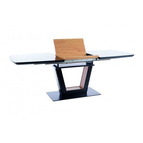 thumb Стол обеденный Sydney 160(220)x90 см Черный / Дуб (SYDNEYCD160) 11
