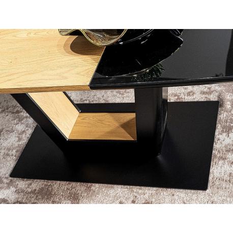thumb Стол обеденный Sydney 160(220)x90 см Черный / Дуб (SYDNEYCD160) 7