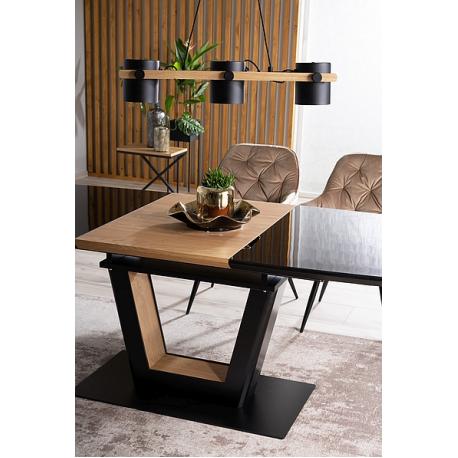 thumb Стол обеденный Sydney 160(220)x90 см Черный / Дуб (SYDNEYCD160) 3