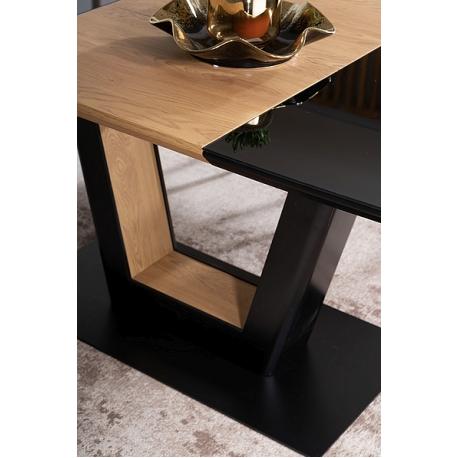 thumb Стол обеденный Sydney 160(220)x90 см Черный / Дуб (SYDNEYCD160) 5
