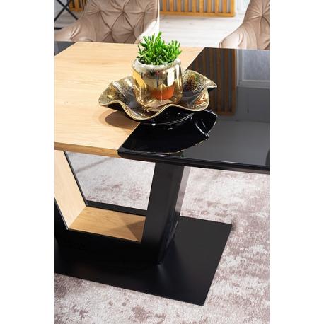 thumb Стол обеденный Sydney 160(220)x90 см Черный / Дуб (SYDNEYCD160) 6