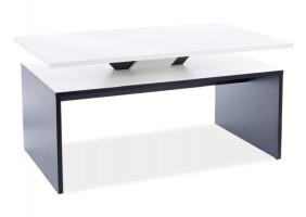 Журнальный столик LOVA белый мат / черный мат 100X60X50