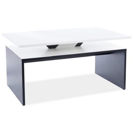 thumb Журнальный столик LOVA белый мат / черный мат 100X60X50 1