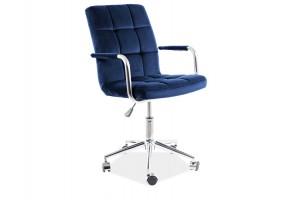 Кресло поворотное Q-022 VELVET синий BLUVEL 86