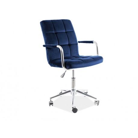 thumb Кресло поворотное Q-022 VELVET синий BLUVEL 86 1