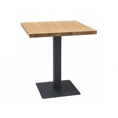 thumb Стол PURO LAMINAT дуб / черный 70x70 1