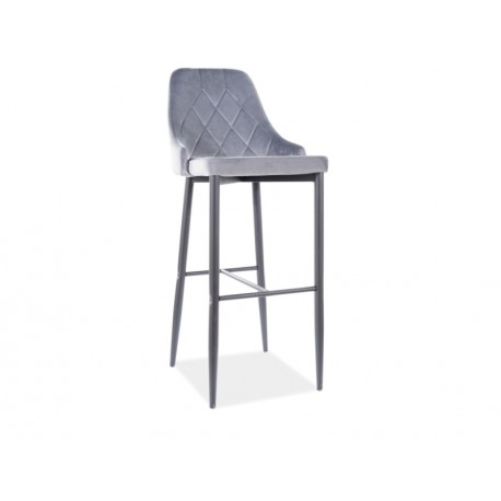 thumb Барный стул TRIX B H-1 черный каркас / серый BLUVEL 14 1