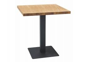 Стол PURO LAMINAT дуб / черный 80X80