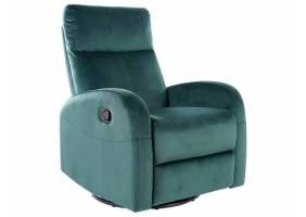 Кресло раскладное OLIMP VELVET зеленый BLUVEL 78