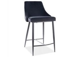 Полубарный стул PIANO B H-2 VELVET черный каркас / черный Черный