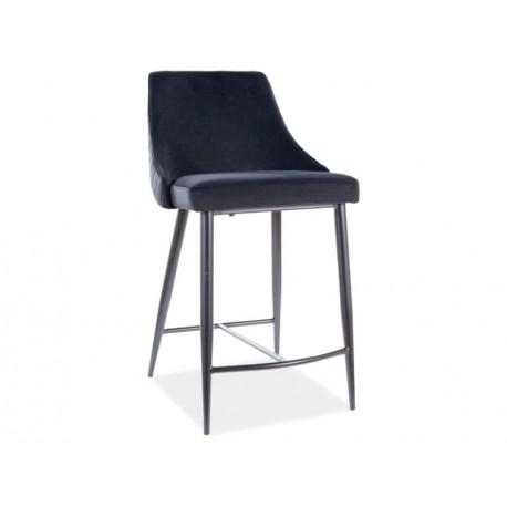 thumb Полубарный стул PIANO B H-2 VELVET черный каркас / черный Черный 1